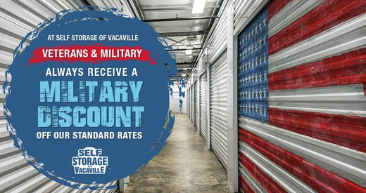 Self Storage of Vacaville is Proud to Offer Military Discounts