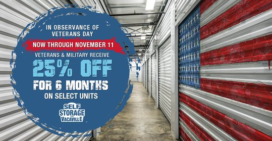 Veterans Day Special: Receive 25% Off Your First 6 Months Rent