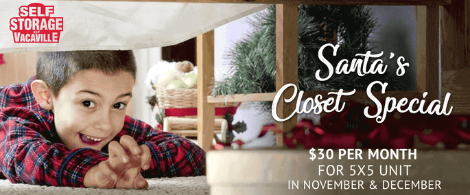 Santa's Closet Holiday Special at Self Storage of Vacaville