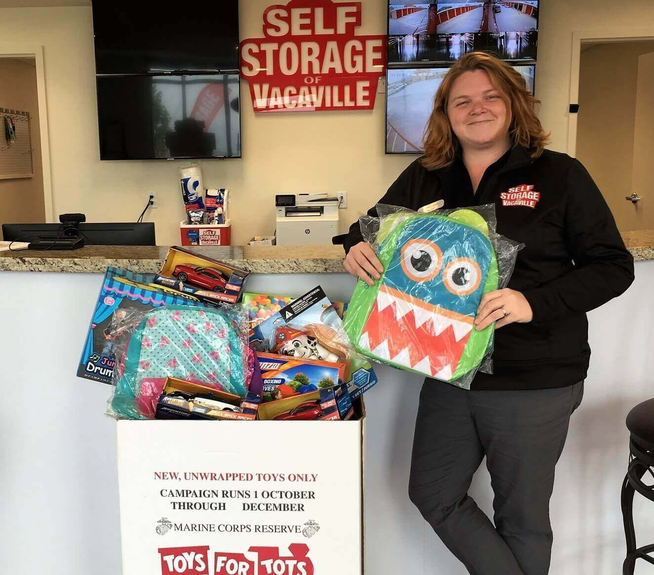 Self Storage of Vacaville Supports the Marine Corps Toys For Tots