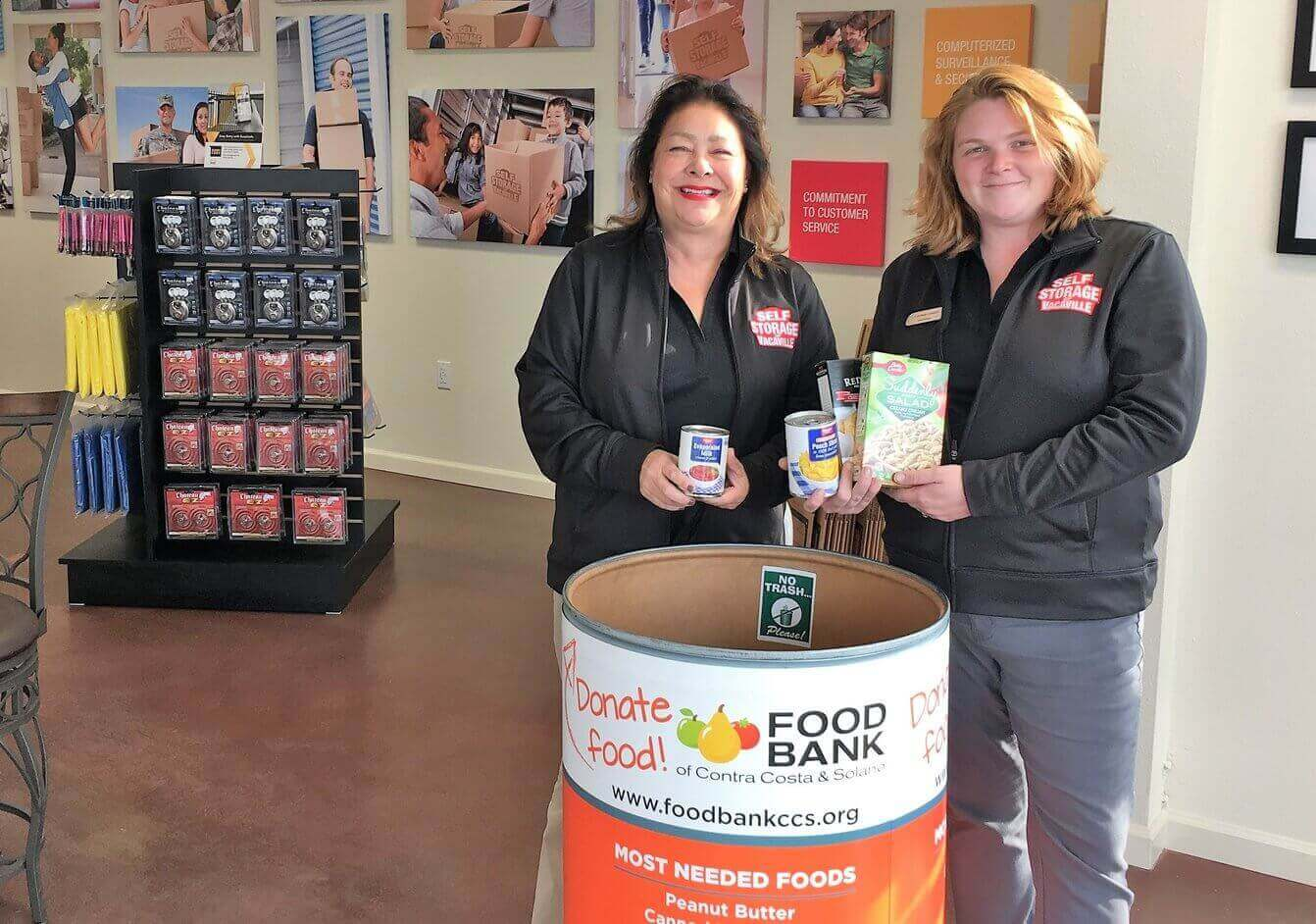 Our Storage Facility Supports Food Bank of Contra Costa & Solano
