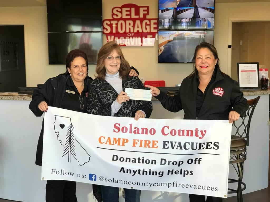 Our Storage Facility Supports Solano County Camp Fire Evacuees