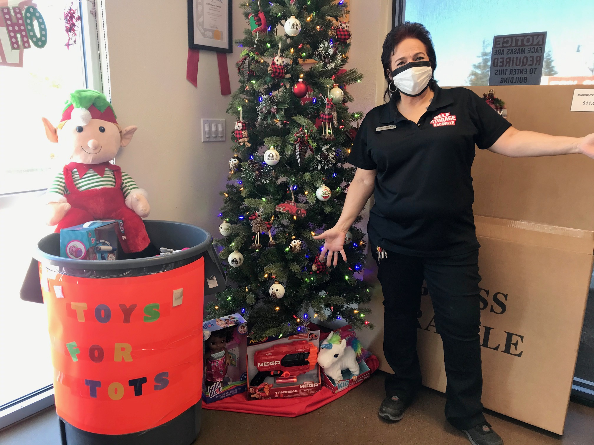 Self Storage of Vacaville Supports Toys For Tots for the 2020 Holiday Season!